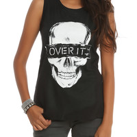 Skull Over It Muscle Girls Top