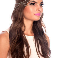 Cleopatra Head Chain in Silver :: tobi
