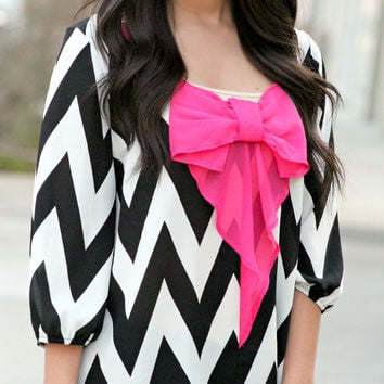 Neon Lights Chevron Blouse
