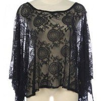 EVENING LACE CUT OUT BACK TOP