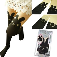 JAM_Closet Japanese Sexy Bunny Rabbit Mock with TAIL TIGHTS Pantyhose
