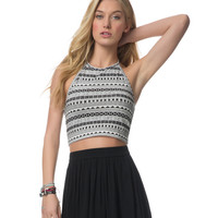 GEO CROPPED HALTER TOP