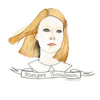 Margot Tenenbaum watercolour portrait PRINT
