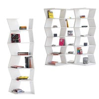 B-LINE Zig Zag Bookcase Storage Shelving by Aziz Sariyer