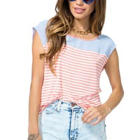 Evelyn Contrast Stripe Tee