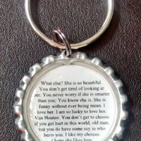 The Fault In Our Stars (TFIOS) Augustus's Letter Bottle Cap Keychain