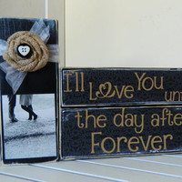 Wedding decoration or gift Black decor I'l love by FayesAttic11