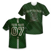 Exclusive Personalized Slytherin Crest Youth Quidditch Jersey | HarryPotterShop.com