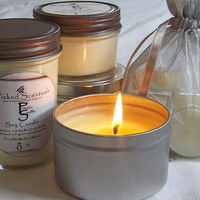 Soy Candle in 8 oz. Travel Tin - Pumpkin Souffle scented | WickedScentuals - Candles on ArtFire