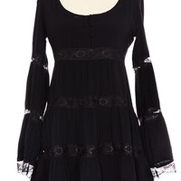 Black Belle Lace Tunic Dress - PLASTICLAND