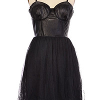 Black Swan Corset Dress - PLASTICLAND