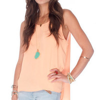 Lay It On Tank Top in Orange Sherbert :: tobi