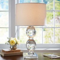 Carlotta Faceted Crystal Bedside Lamp Base