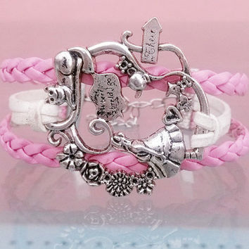 Alice in Wonderland fairy tale world Pendant bracelet, Best Chosen Gift