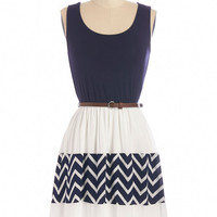 ModCloth Nautical Mid-length Sleeveless A-line Day Cruise Dress
