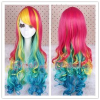 L-email cosplay Harajuku Rainbow Deviants Collection Sexy Lady Cosplay Women Costumes Hair Wigs