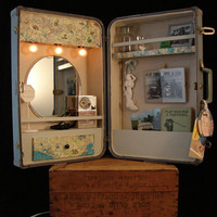 Upcycled Vintage Suitcase Cabinet Custom Order by BenclifDesigns