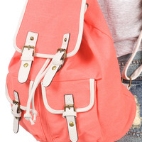 Canvas Bucket Backpack - Canvas Backpacks at Pinkice.com