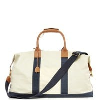 J. McLaughlin Sailcloth Duffle Bag - Blue & White Duffle Bag - ShopBAZAAR