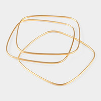 Square Gold Bangle Set | MoMA