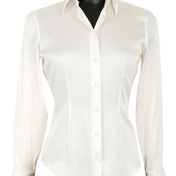 Chantal Satin Silk Blouse