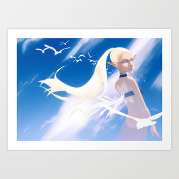 The element of air Art Print by Francesca B.