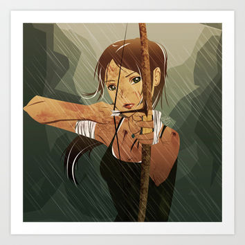 Lara Croft Reborn Art Print by Francesca B.