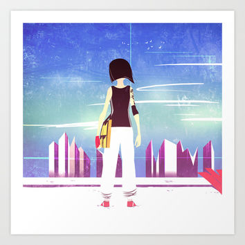 Mirror's Edge Art Print by Francesca B.