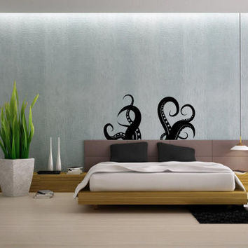 Octopus Tentacles Sprut Kraken Ocean Sea Animal Housewares Wall Vinyl Decal Art Design Interior Modern Bedroom Bathroom Decor Sticker SV3961