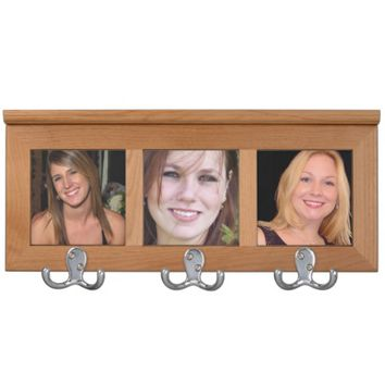 Personalized photo coat rack. Make your own!