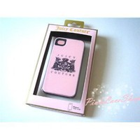 Pink Juicy Couture Hard Case Cover for iPhone 4