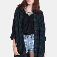 Come As You Are Plaid Button-Up