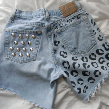 Cheetah print High waisted shorts