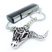 USB Flash Drive Keychain, Bull Head USB Flash Drive, Gift for Dad, Father's Day Gift