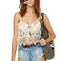Nasty Gal Cream of the Crop Top
