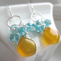 Spring Fling  Gemstone Earrings by JulieEllynDesigns on Etsy