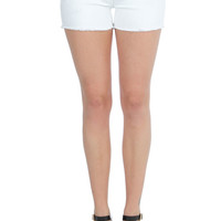Lina H7 White Sequined Shorts