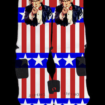 New Editions Uncle Sam USA Flag Custom Nike Elites Vintage