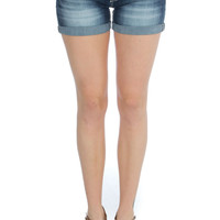 Dockside Days Distressed Denim Shorts
