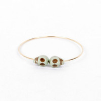 Head Bangle Bracelet in Mint :: tobi