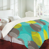 DENY Designs Home Accessories | Aimee St Hill Big Leaves Blue Duvet Cover