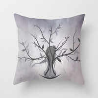 The Dreamy Tree Throw Pillow by LouJah | Society6