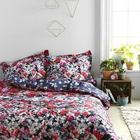 Plum & Bow Photo Rose Duvet Cover - Urban Outfitters