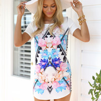 WOODSTOCK FLORAL SHIFT DRESS