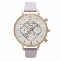 Big Dial Chrono Detail Lilac and Rose Gold – Vintage inspired fashion watches by Olivia Burton