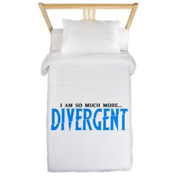 Divergent Blue Twin Duvet - Girl Tease