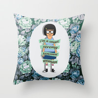 I am a smart, strong, sensual woman.  Throw Pillow by Sara Eshak