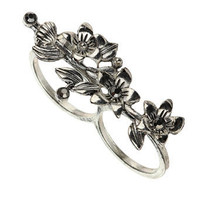 double flower ring - Sale - Offers - evans