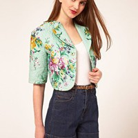 ASOS | ASOS PREMIUM Jacket With Quilting And Floral Print at ASOS