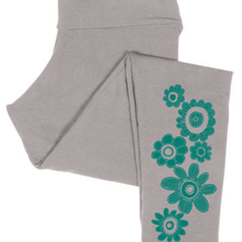 NEW! Crazy Daisy Cropped Leggings: Soul Flower Clothing